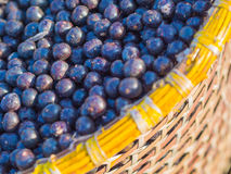 Acai in baskets Royalty Free Stock Image