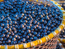 Acai in baskets Royalty Free Stock Photo