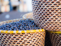 Acai in baskets Stock Photography
