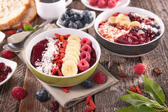Acai berry smoothie Stock Photo