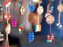 Acai bijou. Jewelry made with acai seed (Euterpe oleracea) - Amazonia - Brazil Royalty Free Stock Image
