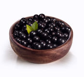 Acai in the bowl. Typical fruit of the Brazilian Amazon, has a great energy source Royalty Free Stock Photo