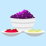Acai cream with side dish Royalty Free Stock Photography