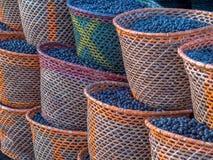 Acai en cestas Fotografía de archivo libre de regalías