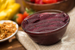 Acai fruit Amazon in the bowl. Super food high energy of the Brazilian amazon royalty free stock photography