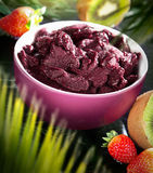 Acai in the pot Stock Images