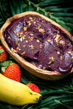 Acai in the pot. Food of the Brazilian amazon stock photography