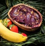 Acai in the pot. Food of the Brazilian amazon Stock Image
