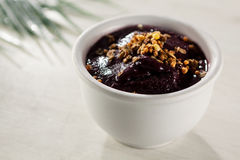 Acai in the pot. Food with high energy, typical of the Brazilian amazon Stock Photography