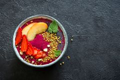 Acai smoothie bowl Stock Image