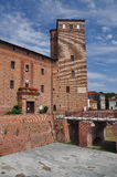 Acaja castle, Fossano, province of Cuneo, Italy Royalty Free Stock Photo