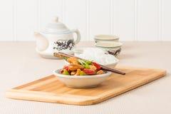 Acajoubaum-Huhn und Reis Lizenzfreies Stockfoto