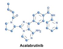 Acalabrutinib experimental anti-cancer drug. Acalabrutinib is a novel experimental anti-cancer drug and a 2nd generation Bruton tyrosine kinase inhibitor. It is vector illustration