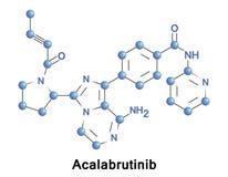 Acalabrutinib experimentell anti--cancer drog vektor illustrationer