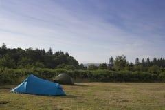 Acampada del verano en Escocia foto de archivo