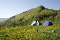 Acampamento Fotografia de Stock Royalty Free