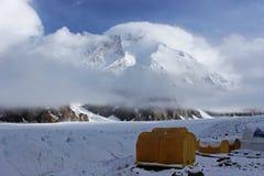 Acampamento base de Quirguizistão - de Khan Tengri Fotos de Stock