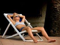 Acampamento-cama Imagens de Stock