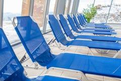 Acampamento-camas azuis Imagens de Stock