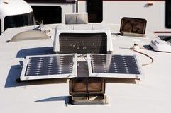 Acampamento com 9 solares Fotos de Stock Royalty Free