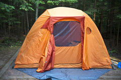 Acampamento da barraca Fotografia de Stock