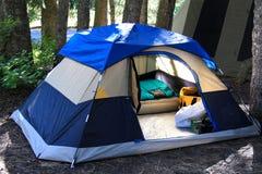 Acampamento da barraca Fotos de Stock