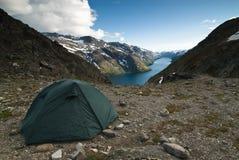 Acampamento da barraca Foto de Stock