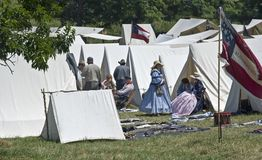 Acampamento da guerra civil Foto de Stock