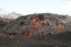 Acampamento da lava no alvorecer foto de stock royalty free