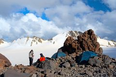 Acampamento da montanha Imagem de Stock Royalty Free