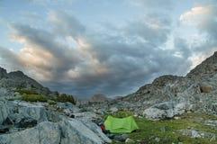Acampamento da montanha Fotografia de Stock