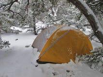Acampamento da neve Foto de Stock Royalty Free