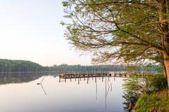 Acampamento da pesca imagem de stock royalty free