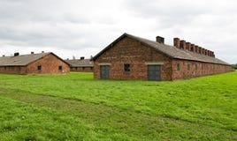 Acampamento de Auschwitz-Birkenau imagens de stock royalty free