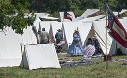 Acampamento de la guerra civil foto de archivo