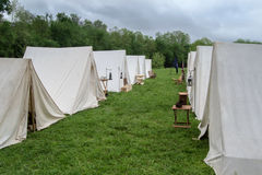 Acampamento de la guerra civil Imagen de archivo libre de regalías