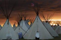 Acampamento de la noche Imagen de archivo