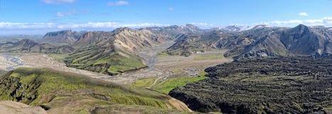 Acampamento de Landmannalaugar em Islândia Imagens de Stock