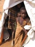 Acampamento de refugiado da fome de Somália Fotografia de Stock