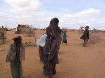 Acampamento de refugiado da fome de Somália Foto de Stock
