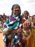Acampamento de refugiado da fome de Somália Fotografia de Stock Royalty Free