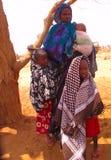 Acampamento de refugiado da fome de Somália Imagens de Stock