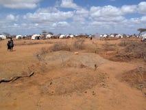 Acampamento de refugiado da fome de Somália Fotos de Stock