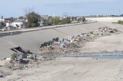 Acampamento desabrigado em Tijuana Imagens de Stock