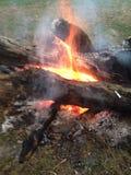 Acampamento do fogo Imagem de Stock Royalty Free