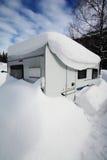 Acampamento do inverno Imagens de Stock