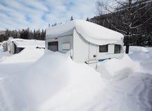 Acampamento do inverno Imagens de Stock Royalty Free