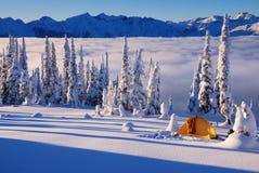 Acampamento do inverno Imagem de Stock Royalty Free