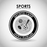 Acampamento dos esportes ilustração royalty free