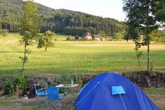 Acampamento em Alemanha Fotografia de Stock Royalty Free